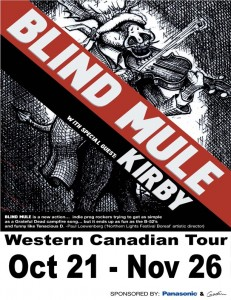 Blind Mule + Kirby tour poster