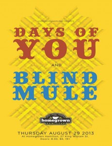 Blind Mule Days of You Poster